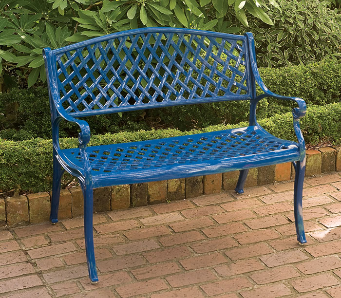 6357: Drayton Bench - Royal Blue (Product Detail)