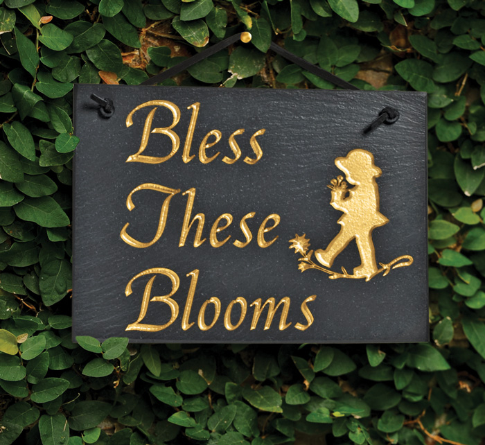 "5646: ""Bless These Blooms"" Sign (Product Detail)"