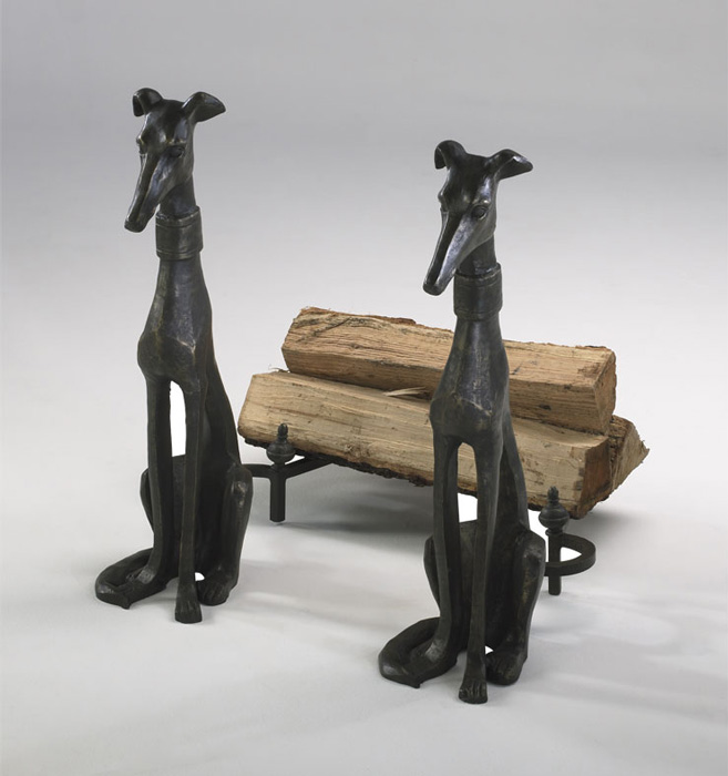 6442: Greyhound Andirons (Set of Two) (Product Detail)