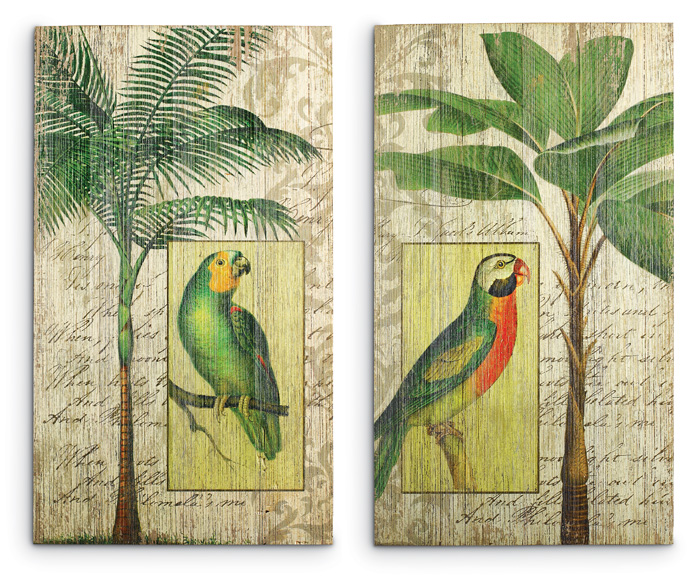 6400: Parrots and Palms Wall Art (Set of Two) (Product Detail)