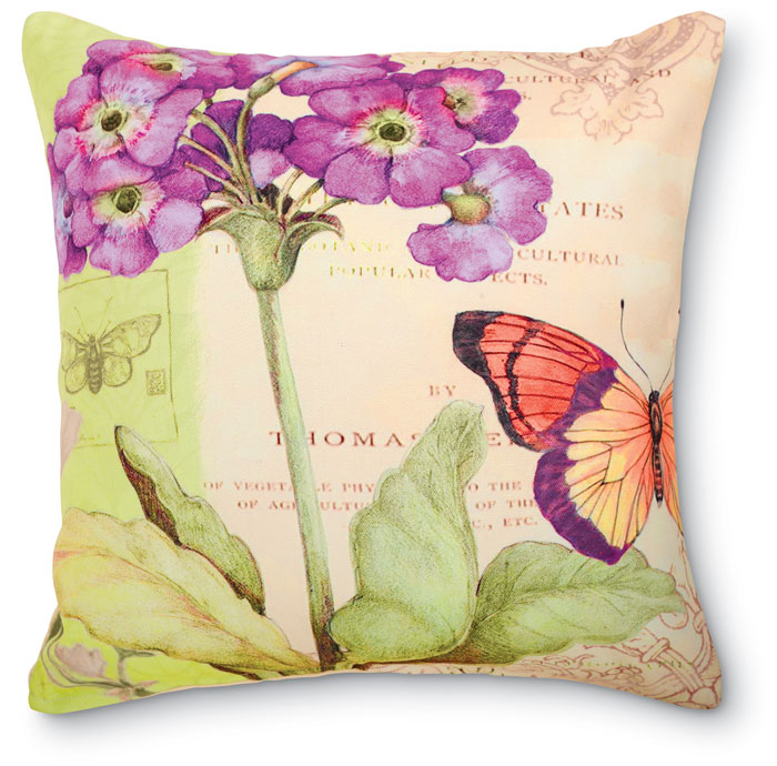 6445: Primrose Butterfly Pillow (Product Detail)