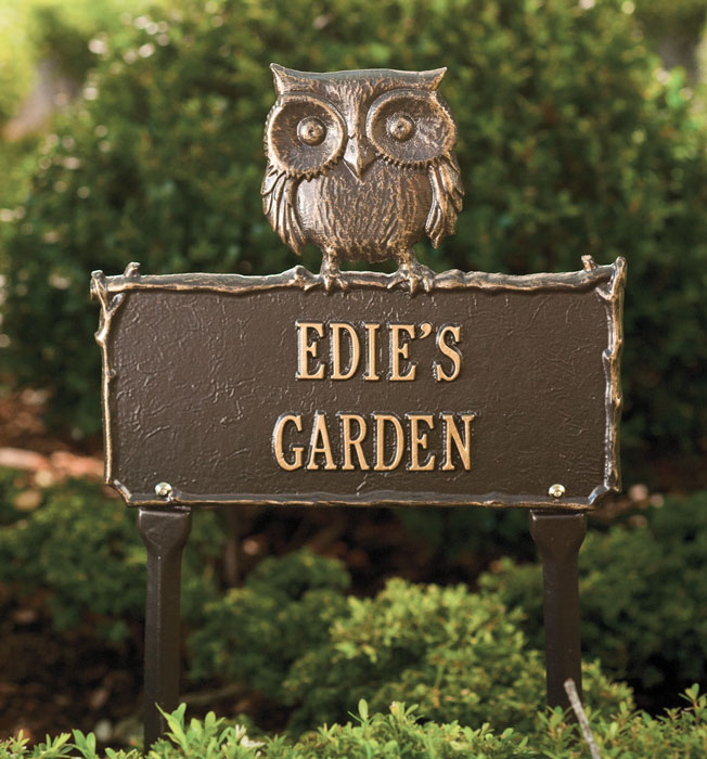 6475: Owl Garden Sign - Personalized (Product Detail)
