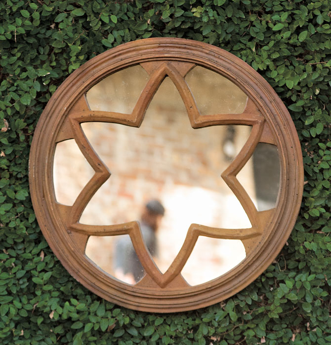 6258: Rust Star Mirror (Product Detail)