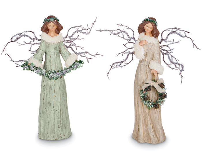 6595: Woodland Angels (Set of Two)  (Product Detail)