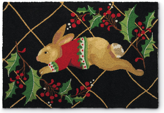 6715: Holiday Bunny Rug  (Product Detail)