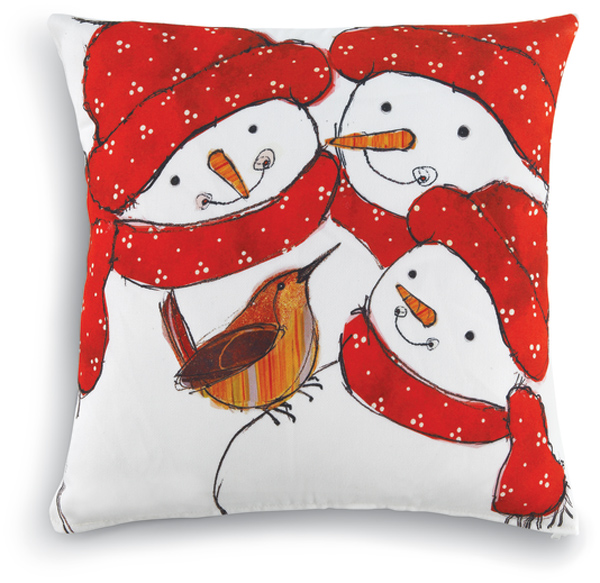 6758: Wren and Snow Family Pillow (Product Detail)