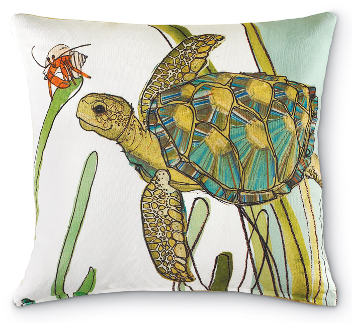 6709: Sea Turtle Pillow (Product Detail)