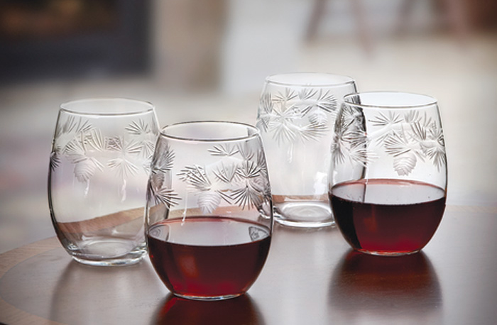 6777: Icy Pine Glasses (Set of Four) (Product Detail)