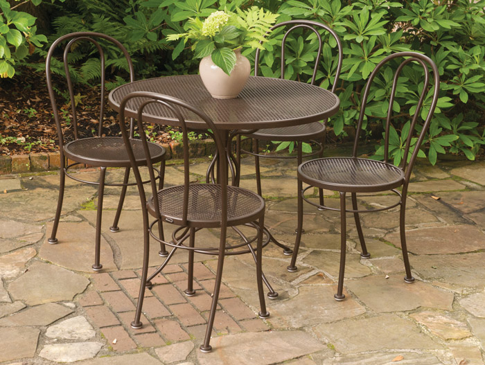 "5735: Bentwood Bistro Set - 36"" Table and Four Chairs (Product Detail)"