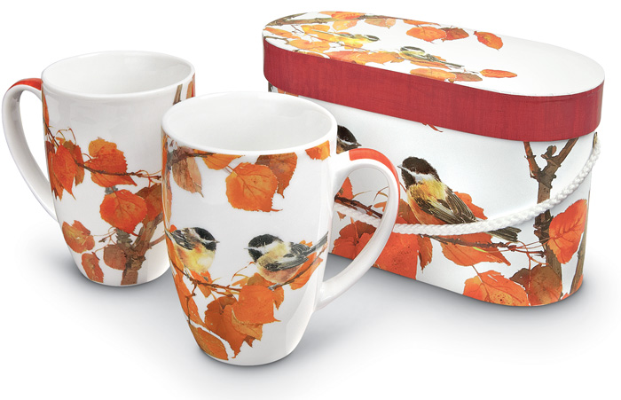 6781: Chickadee Mugs (Set of Two)  (Product Detail)