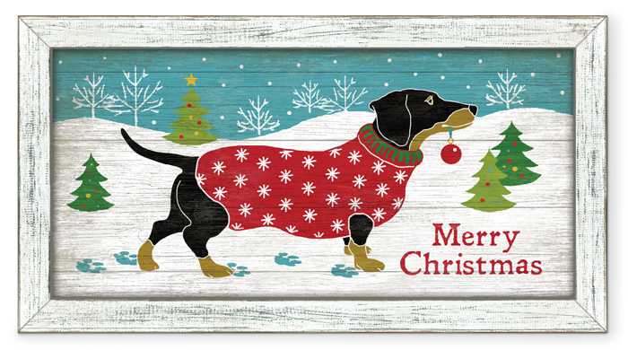"6779: ""Merry Christmas""  Dachshund Wall Art (Product Detail)"