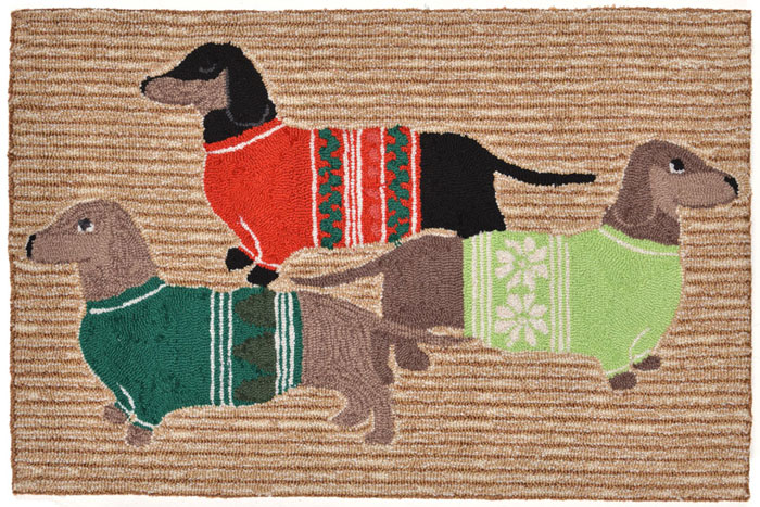 6845: Festive Hounds Rug  20 x 30 (Product Detail)