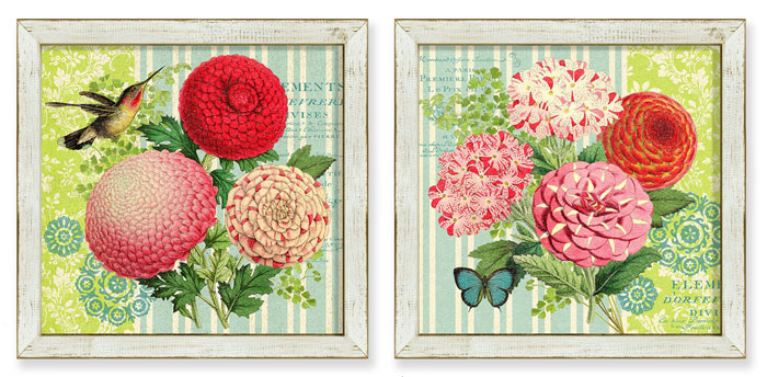 6864: Spring Fling Wall Art (Set of Two) (Product Detail)