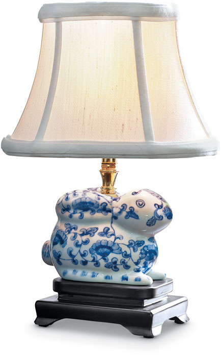 6894: Blue and White Bunny Lamp (Product Detail)