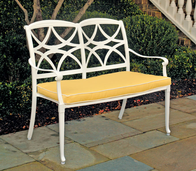 6962: Kent Bench - White (Product Detail)