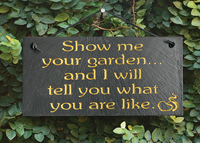 "7195: ""Show Me Your Garden"" Sign (Product Detail)"