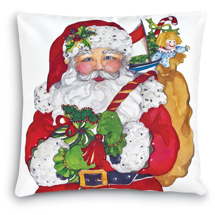 7357: Santa with Toy Bag Pillow (Product Detail)