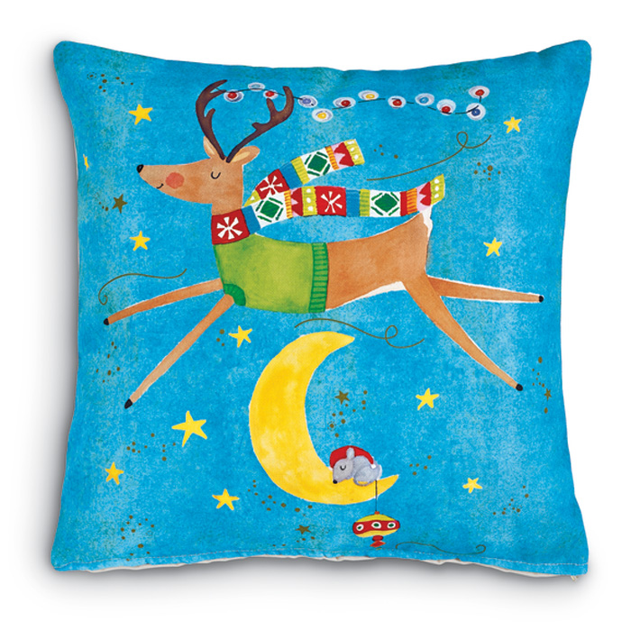 7355: Reindeer Over-the-Moon Pillow (Product Detail)