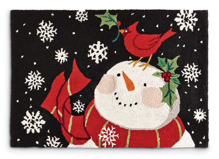 7259: Snowman and Cardinal Rug (Product Detail)