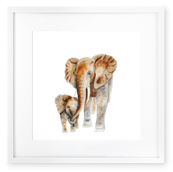 7394: Mom and Baby Elephants Wall Art (Product Detail)