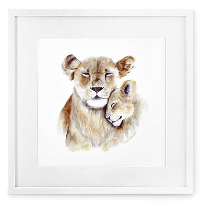7395: Mom and Baby Lions Wall Art (Product Detail)