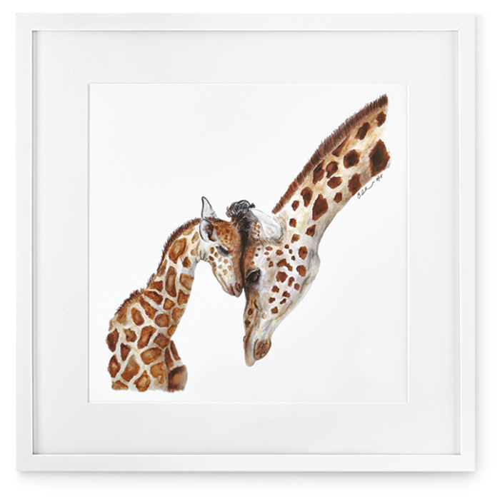 7396: Mom and Baby Giraffes Wall Art (Product Detail)