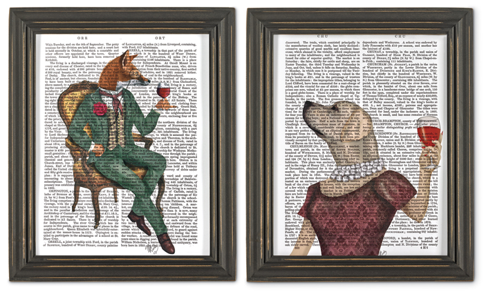 7398: Wine Connoisseurs Wall Art (Set of Two) (Product Detail)