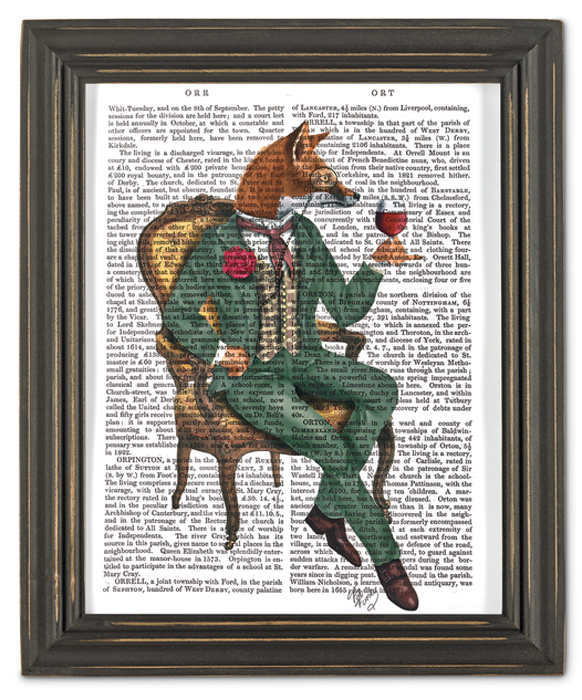 7349: Wine Connoisseur Wall Art/Fox (Product Detail)