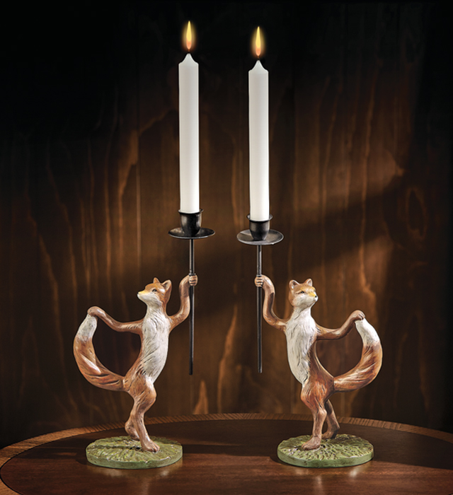 7339: Fox Candleholders (Set of Two) (Product Detail)