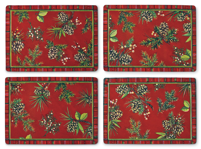 7377: Pinecones Placemats (Set of Four) (Product Detail)
