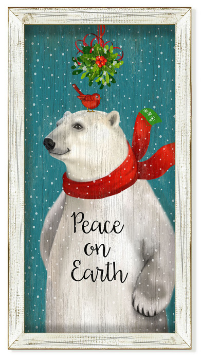 "7439: ""Peace on Earth"" Polar Bear Wall Art (Product Detail)"