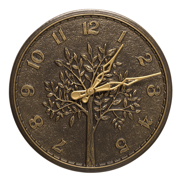 7466: Tree Clock - Bronze (Product Detail)