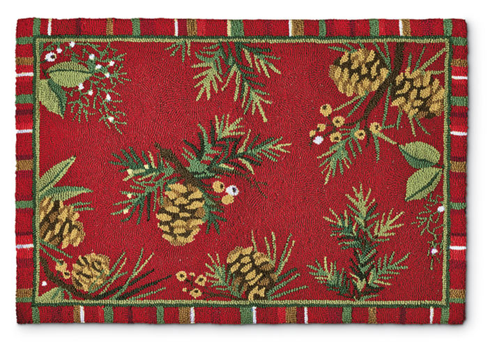 7455: Pinecones Rug (Product Detail)