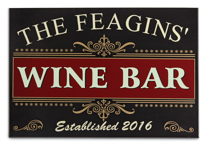 7326: Wine Bar Sign (Personalized) (Product Detail)