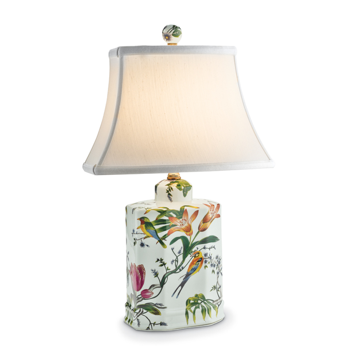 7532: Birds and Flowers Lamp (Product Detail)