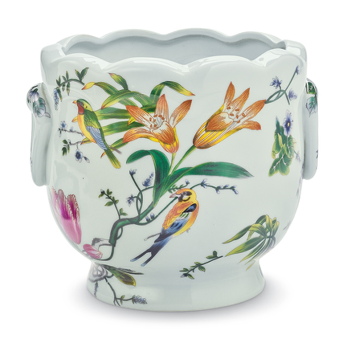 7533: Birds and Flowers Cachepot (Product Detail)