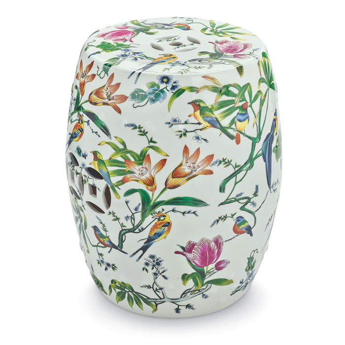 7534: Birds and Flowers Garden Stool (Product Detail)