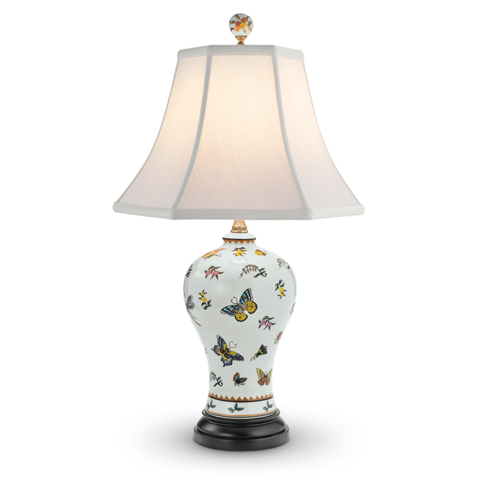7554: Butterfly Porcelain Lamp (Product Detail)
