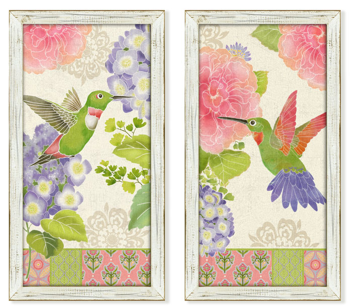 7568: Hummingbirds Wall Art (Set of Two) (Product Detail)