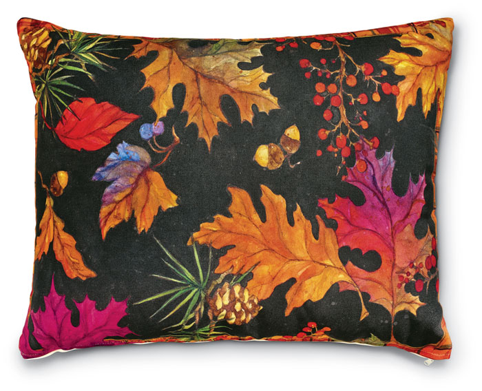 7636: Autumn Leaves Pillow (Product Detail)
