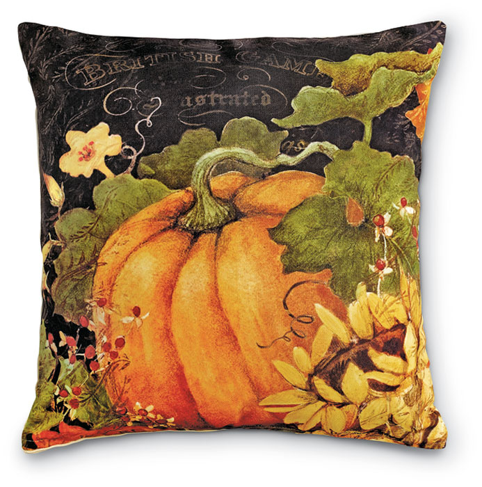 7638: Pumpkins and Sunflowers II Pillow (Product Detail)