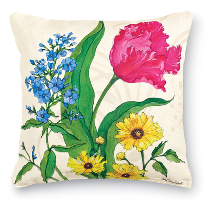 7683: Spring Botanical II Pillow (Product Detail)