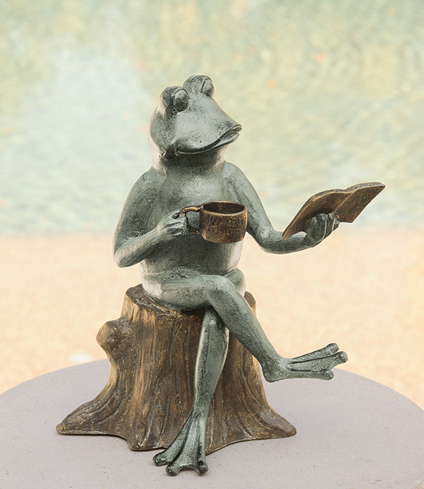 7647: Booklover Frog (Product Detail)