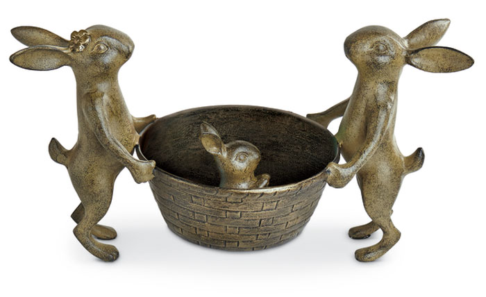 7598: Rabbit Family with Basket (Product Detail)
