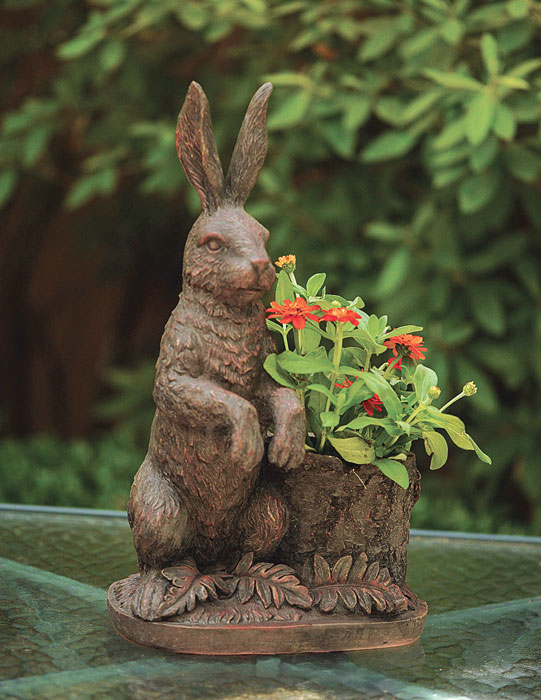 7639: Woodland Bunny Planter (Product Detail)