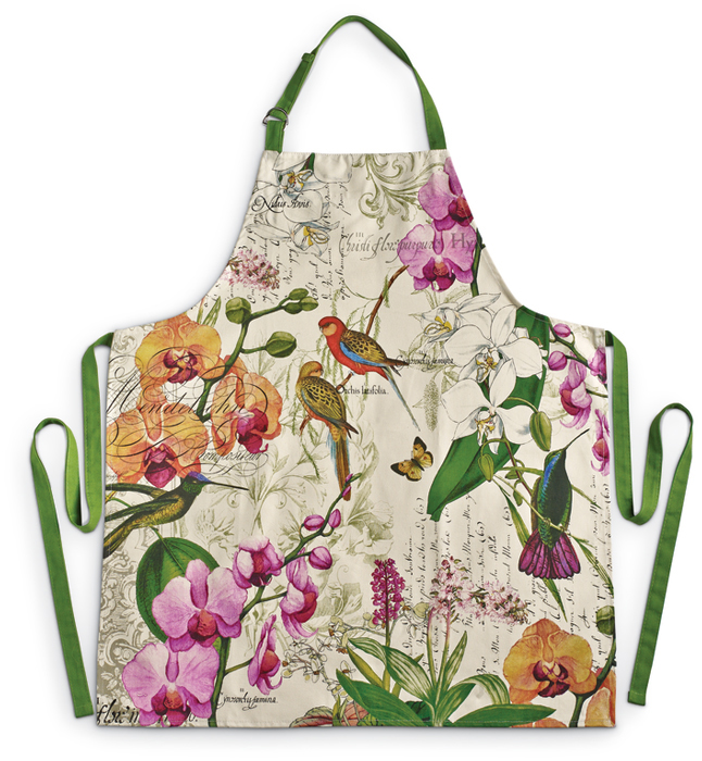 7621: Exotic Birds Apron and Potholder (Product Detail)
