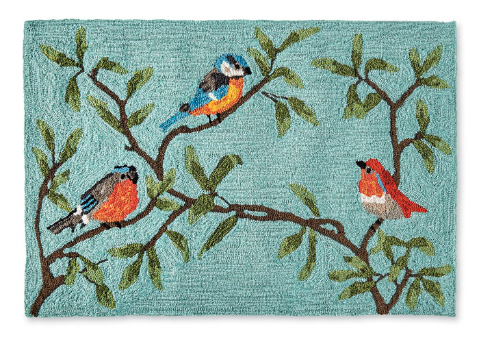 7780: Birds on Branches Rug 2