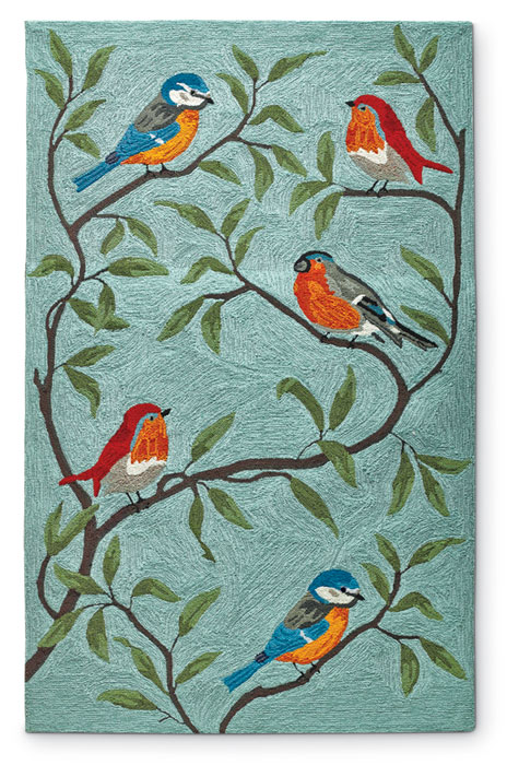 7782: Birds on Branches Rug  5