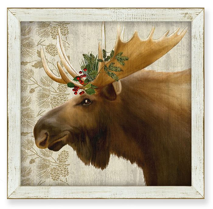 7851: Woodland Life Moose Wall Art (Product Detail)