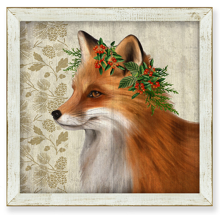 7853: Woodland Life Fox Wall Art (Product Detail)